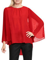 Vince Camuto Petite Chiffon Pleated Sleeve Blouse