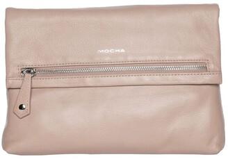 Mocha Bella Foldover Leather Crossbody Bag - Taupe