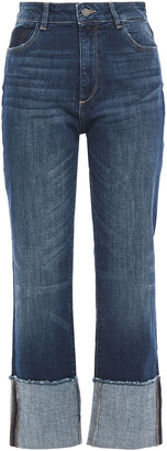 DL1961 Faded High-rise Straight-leg Jeans