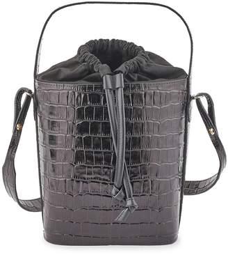 MAISON BOINET Faux crocodile bucket bag