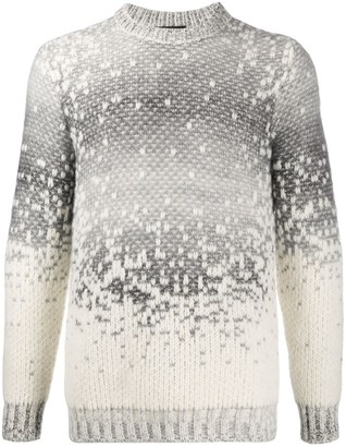 Roberto Collina Knitted Gradient Long Sleeve Jumper