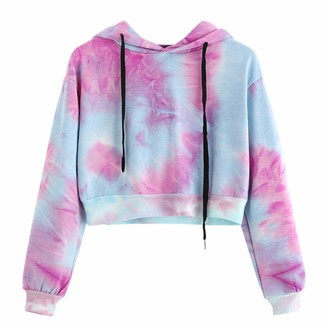 ZGRNPA Women Crop Jumpers Long Sleeve Cropped Hoodie Sweatshirt Jumper Sweater Girl Crop Top Pullover Tops Hoodies Casual Short Blouse T-Shirt Sportswear Leggings Blouses Dungarees New