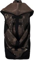 Rick Owens Draped sequined wool-blend felt tunic