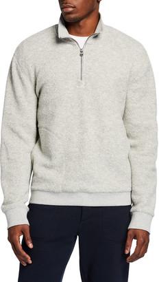 Vince Men's Boucle Quarter-Zip Sweater
