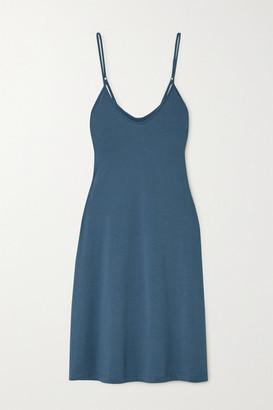 Skin Essentials Odelle Pima Cotton-jersey Nightdress - Blue