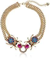 """Betsey Johnson Creep Show"""" Double Spider Necklace"""
