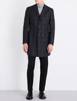 Corneliani Checked Super 110's wool coat