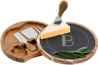Cathy's Concepts Monogram 5-Piece Cheese Board & Utensil Set