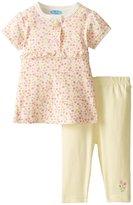 Bon Bebe 2 Piece Dress Set (Baby) - Floral-3-6 Months