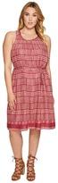 Lucky Brand Plus Size Jacquard Border Print Dress Women's Dress