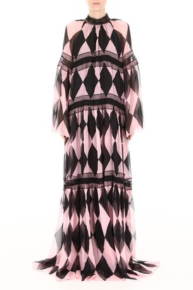 Philosophy di Lorenzo Serafini Pattern Evening Dress