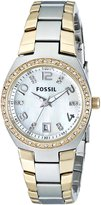 Fossil Women's AM4183 Classic Two Tone Gold//Mother of Pearl Stainless Steel Watch