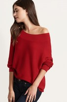 Dynamite Ribbed Off-The-Shoulder Sweater