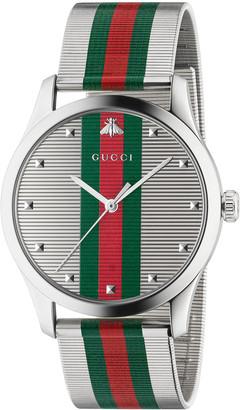 Gucci Men's Signature Web Stainless Steel Bracelet Watch
