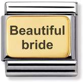Nomination Gold Classic Charm 030121/01 Engraved with Beautiful Bride
