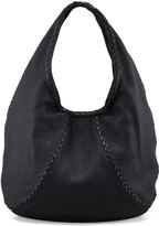 Bottega Veneta Cervo Large Hobo Bag, Black - ShopStyle
