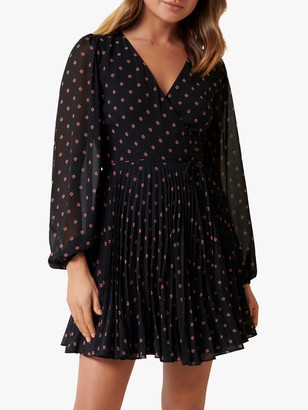Forever New Hannah Ditsy Spot Skater Dress, Black