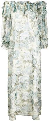 P.A.R.O.S.H. Floral Print Long Dress