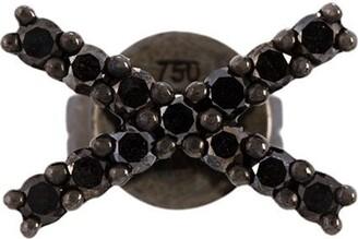 Alinka black rhodium 18kt white gold KATIA diamond stud earring