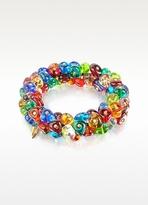 Murano Antica Murrina Rubik Glass Drops Stretch Bracelet