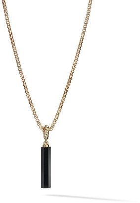 David Yurman 18kt yellow gold Amulets black onyx barrel pendant