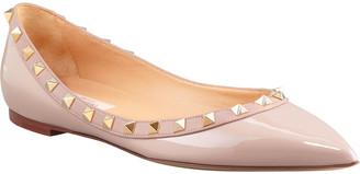 Valentino Rockstud Patent Ballet Flats