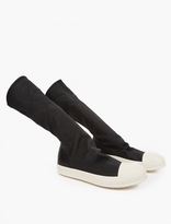 Rick Owens Black Stretch Sneakers