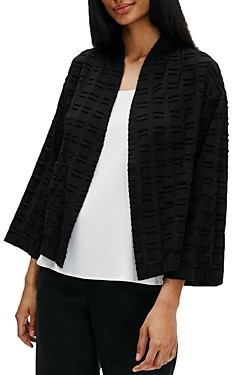 Eileen Fisher Organic Cotton Textured Kimono Jacket