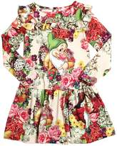 MonnaLisa Seven Dwarfs Printed Interlock Dress