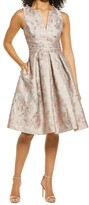 Thumbnail for your product : Eliza J Floral Brocade Sleeveless Fit & Flare Cocktail Dress