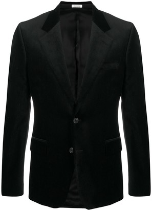 Alexander McQueen Velvet Single-Breasted Blazer