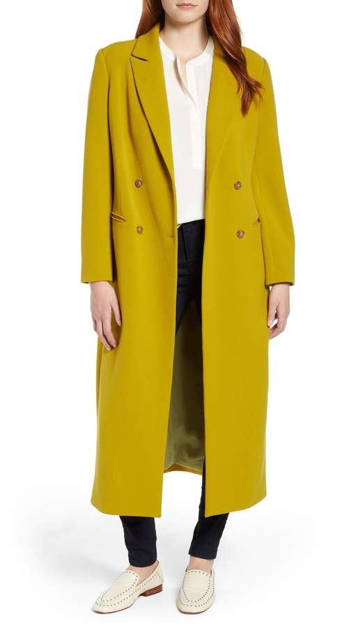 Vince Camuto Double Breasted Long Jacket