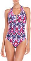 Jones New York One-Piece Halter Swimsuit
