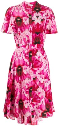 Alexander McQueen flower print tea dress