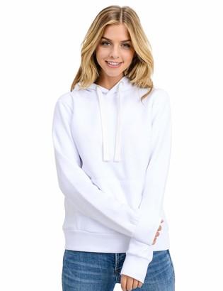 Esstive Women's Ultra Soft Fleece Basic Midweight Casual Solid Pullover Hoodie Sweatshirt
