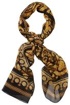 "Versace Printed Silk Long Scarf, 78"" x 27.5"""
