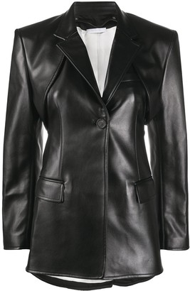 Peter Do Two-Piece Faux Leather Blazer