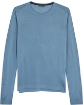 Pal Zileri Blue Mercerised Wool Jumper