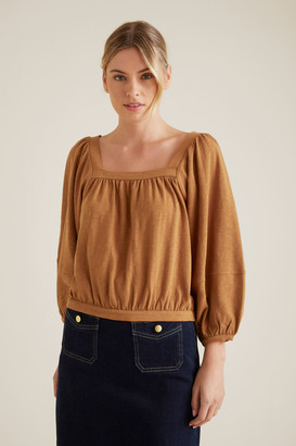 Seed Heritage Square Neck Blouson Top