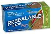 Harmon Face Values Harmon® Face ValueTM 100-Count Resealable Sandwich Bags