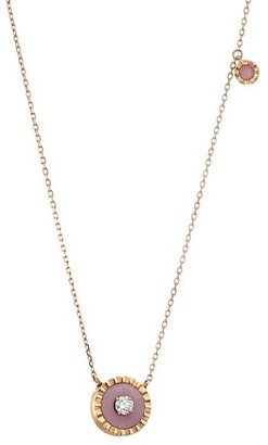 Marli Coco 18K Rose Gold & Pink Opal Pendant Necklace