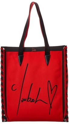 Christian Louboutin Cabalace Small Canvas & Leather Tote