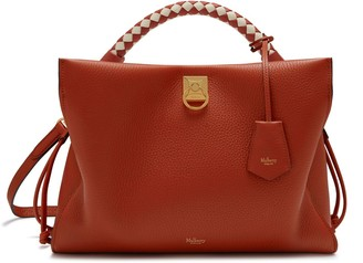 Mulberry Iris Rust Heavy Grain and Silky Calf with Rust - Chalk handle