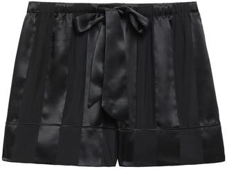 Kiki de Montparnasse Striped Silk-chiffon And Satin Pajama Shorts