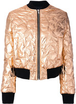 MSGM star quilted bomber jacket - women - Polyester - 40