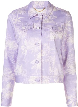 Adam Lippes Cropped Printed Twill Jacket