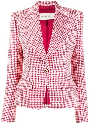 Alexandre Vauthier Houndstooth Fitted Blazer