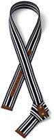 Lands' End Women's Knot Webbing Belt-White
