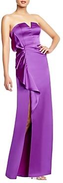 Aidan Mattox Cascading Ruffle Strapless Gown