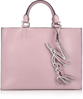 Karl Lagerfeld K/Metal Signature Pink Ballet Leather Shopper Bag